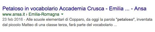 L'Ansa Emilia Romagna parla di #petaloso